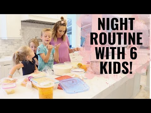 Night routine with 6 KIDS! Bedtime hacks for kids || Jordan Page