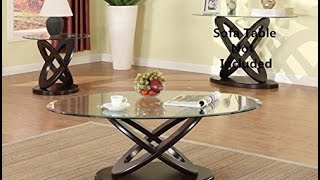 Brand new 3 pack cyclone oval coffee table 1and end table 2 set with 8mm glass table top