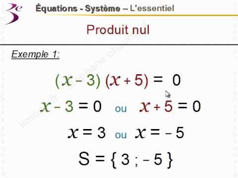 maths equation 3ème Mathématiques