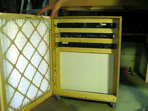 Build a Server Cabinet With Air Filtration - YouTube