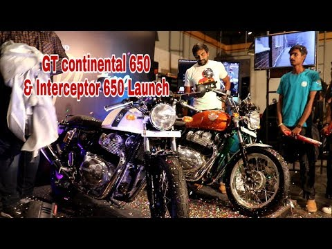 Royal Enfield Interceptor 650 & Continental GT 650 Launched- First Look Walkaround - 동영상
