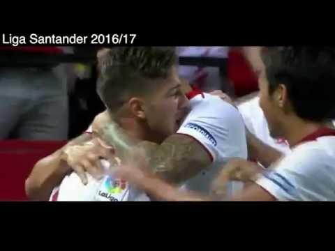 Sevilla 6 - 4 RCD Espanyol, Goles, Liga Santander 2016-2017