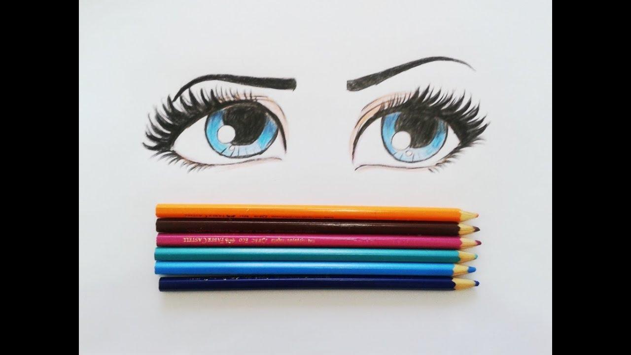 Tutorial Como Desenhar E Pintar Olhos