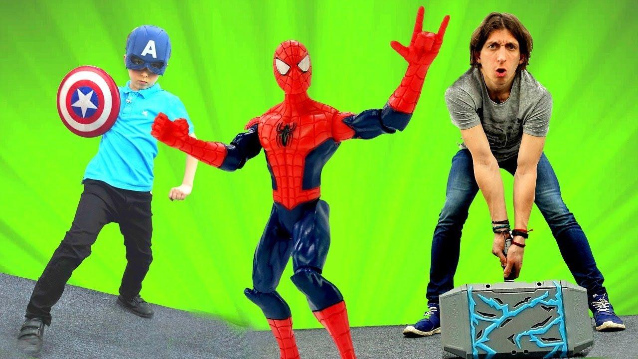 Человек Паук и новые Мстители! Игры для мальчиков. - YouTube