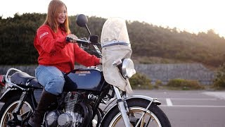 Nostalgicbike.com / ヨンフォアに乗る19歳の可愛い女の子 thumbnail