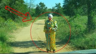 CREEPY CLOWNS IN THE WOODS! CAUGHT ON CAMERA!