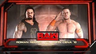 WWE 2K18 - Roman Reigns VS John Cena - Backstage Brawl