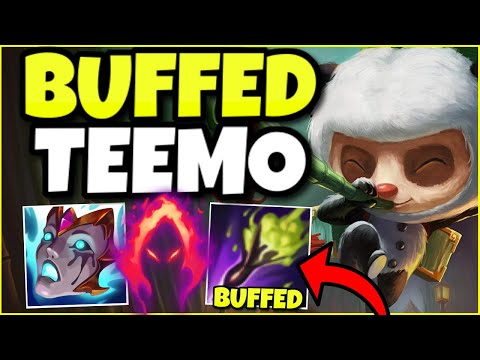 RIOT FINALLY BUFFED TEEMO… AND NOW HE'S AN UNSTOPPABLE SUPPORT! – League of Legends