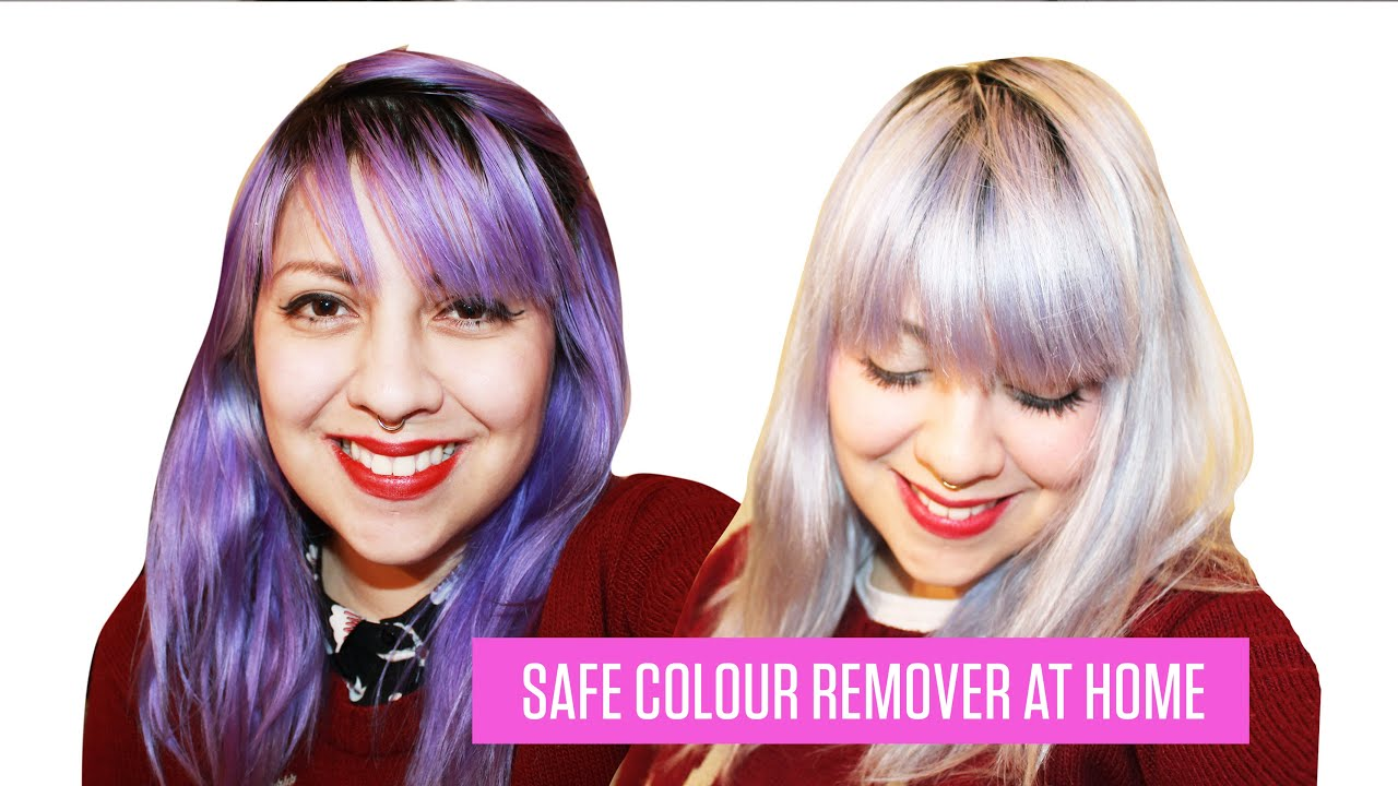 How To Remove Semi Permanent Hair Dye No Bleach Youtube