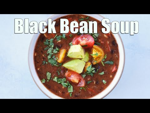 Black Bean Soup | Easy Vegetarian Soup Recipe
