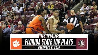 No. 17 Florida State Basketball Top Plays vs. Clemson (2019-20) | Stadium