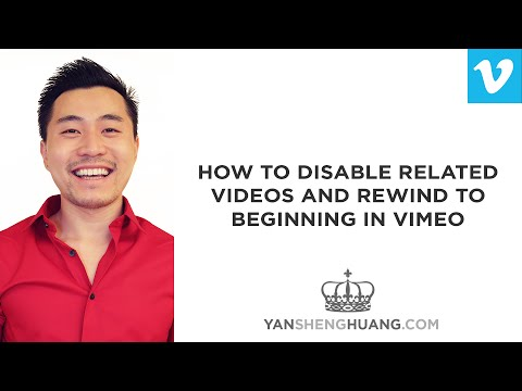 Vimeo Tutorial: How To Disable Related Videos and Rewind to Beginning in Vimeo