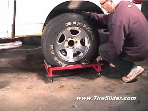 Removing a tire using a TireSlider.