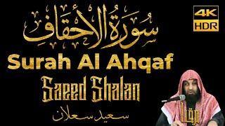 Murottal Quran Merdu    Surah Al Ahqaf - Saeed Shalan    Maqam Ajam/Jiharkah    4K