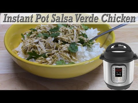 INSTANT POT SALSA VERDE CHICKEN | 5 INGREDIENTS