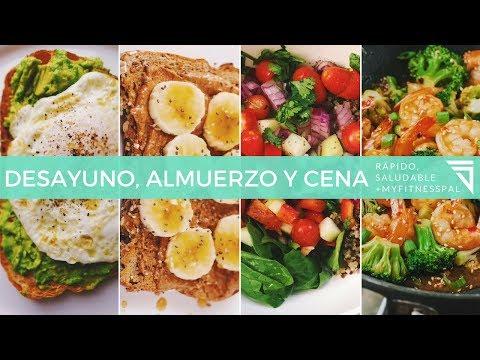 Desayunos almuerzos y cenas para bajar de peso