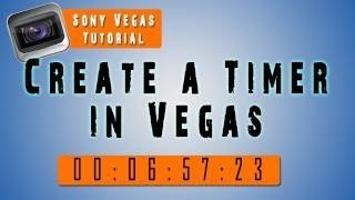 How To Add A Timer & Pause It - Sony Vegas Pro 12