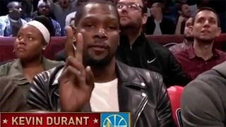 Kevin Durant Looks PISSED After Announcer Says He