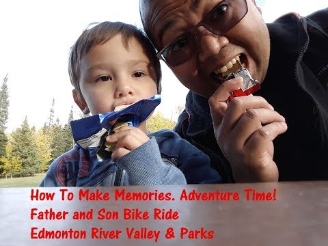 Biking Adventure in Edmonton! Father and Son Hawrelak Park and river valley adventure!