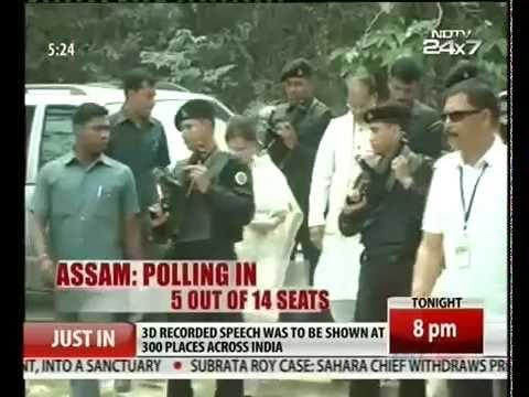 Lok Sabha Elections 2014: Voting begins in Assam and Tripura