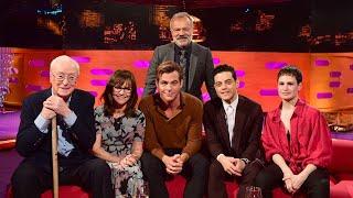 The Graham Norton Show S24E04 - Sally Field, Chris Pine, Rami Malek, Sir Michael Caine & The Queens