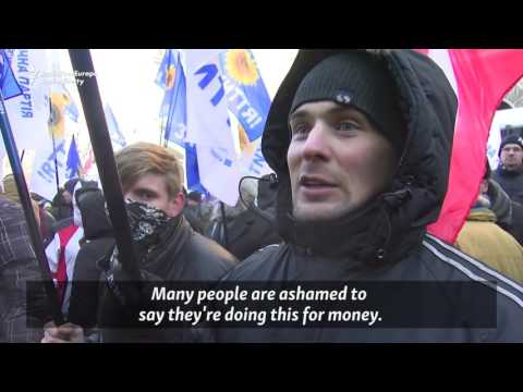 Rent-A-Mob: Ukraine's Paid Protesters