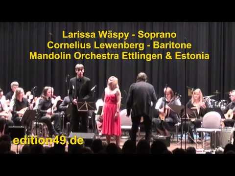 Mozart Duett Papageno Papagena Wäspy Lewenberg Mandolin Orchestra Ettlingen Estonia Bagger