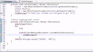 Intermediate Java Tutorial - 54 - whileChatting Client
