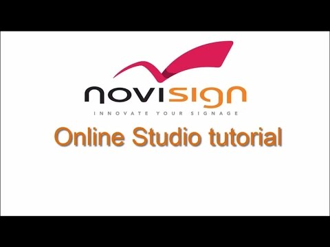 Digital signage online Studio tutorial