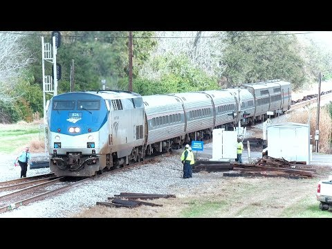 Amtrak Train Chases Workers Off The Track
