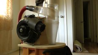 Homemade Cyclone Dust Separator Integrated Into A Shop Vac.