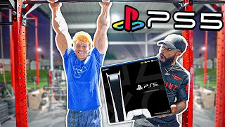 Hang On The Bar In The Gym For 100 Seconds Win The Playstation 5!