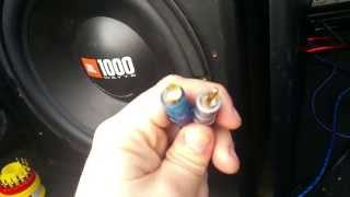 How I removed a broken RCA male connector from amp