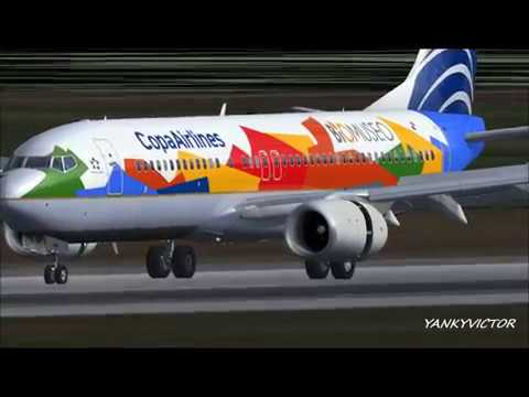 """""""Biomuseo"""" Copa Airlines Boeing 737-800 HP-1825CMP."""