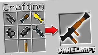 CRAFTING 3D GUNS IN MINECRAFT | Minecraft Mods (3D Guns Mod)