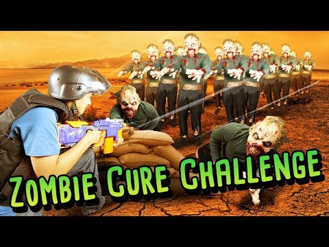 ZOMBIE VS SURVIVOR NERF WAR CHALLENGE! (Real Life Challenges)
