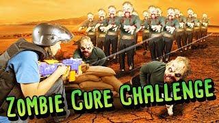ZOMBIE VS SURVIVOR NERF WAR CHALLENGE! (Real Life Challenges)