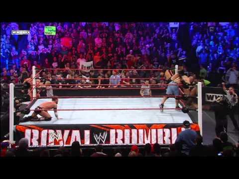 John Cena runs into The New Nexus in the Royal Rumble Match: Royal Rumble 2011