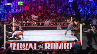 John Cena runs into The New Nexus in the Royal Rumble Match: Royal Rumble 2011