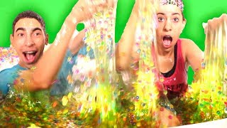 INSANE 100,000 Slime Orbeez Bath Challenge! (WHY DID WE DO THIS!??) thumbnail