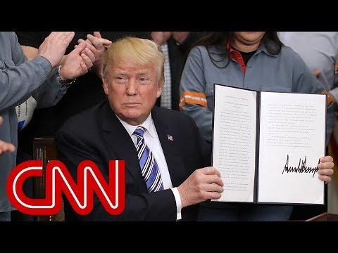President Trump signs new tariffs on steel, aluminum - Dauer: 23 Minuten