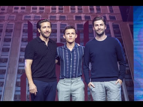 Tom Holland Jake Gyllenhaal Jon Watts at China Spider-Man:Far From Home premiere