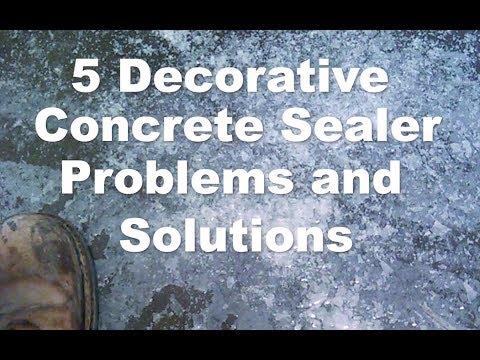 How to Prevent 5 Decorative Concrete Sealer Problems