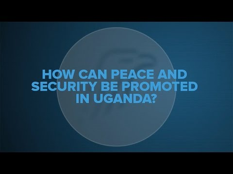 How can peace and security be promoted in Uganda?