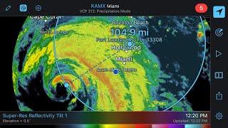 Hurricane Irma's fierce winds now here in Fort Lauderdale