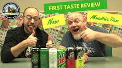 First Taste Review: Mountain Dew White Label, Mountain Dew Green Label and Dew Spiked Lemonade