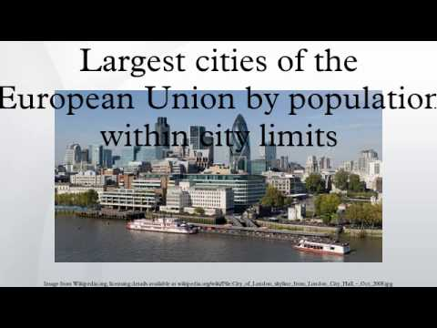 Largest cities of the European Union by population within city limits