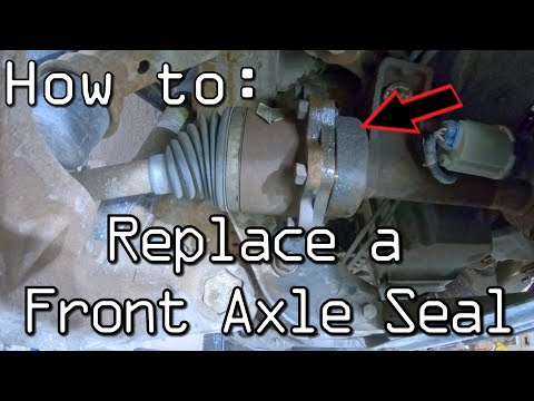 How To Replace A Front Axle Shaft Seal (RH Front) Chevy GMC