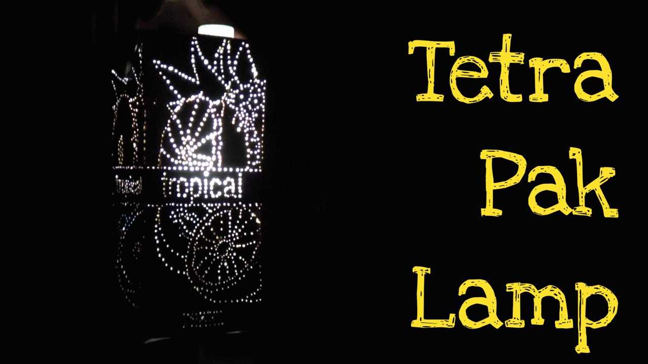 How To Make Diy Lamp From Package Of Juice Or Milk Tetra Pak Light