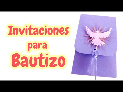 40 Invitaciones Para Bautizo Muy Bellas Hd Youtube